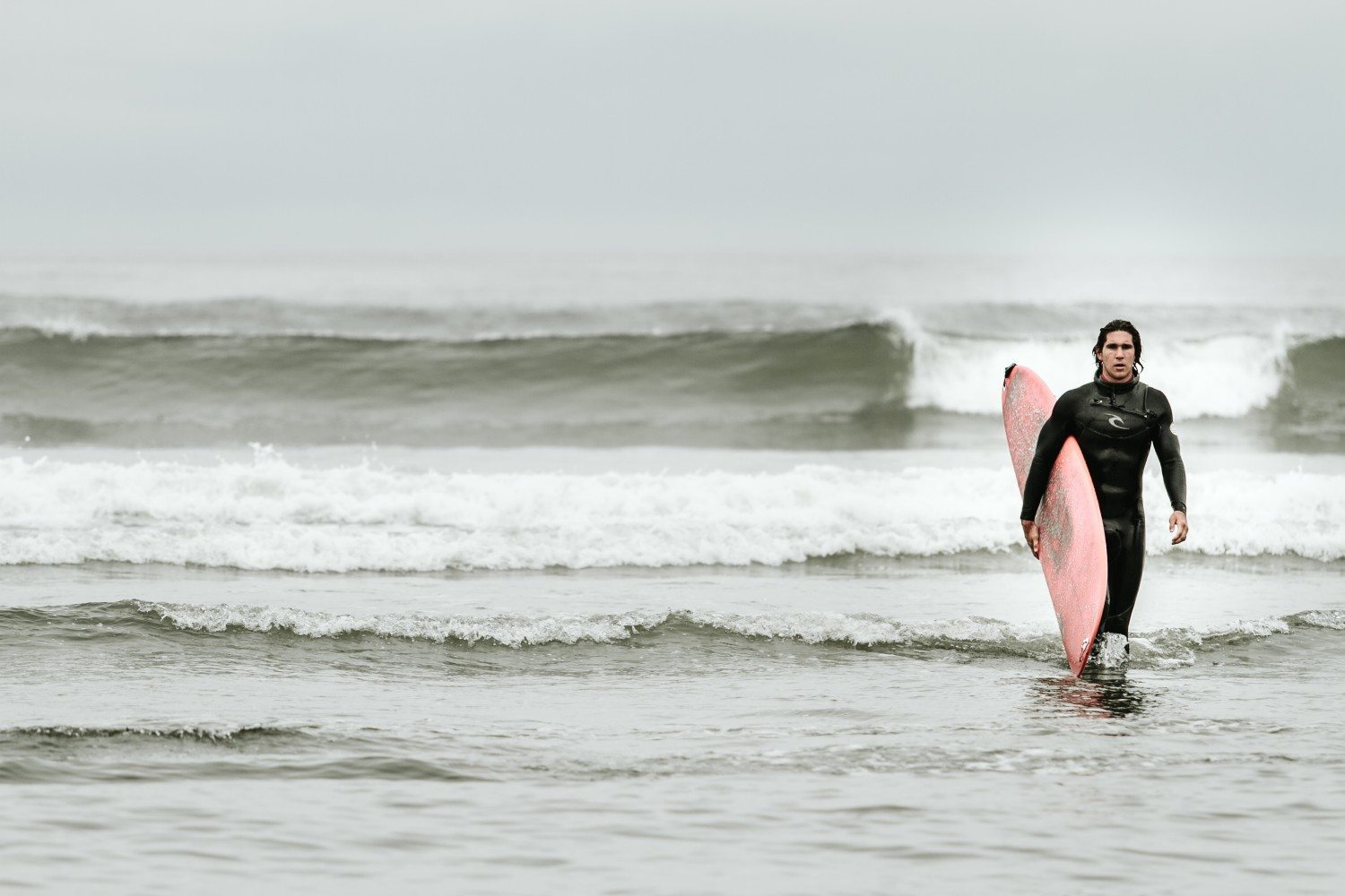 Tyrell Mara surfing in Tofino