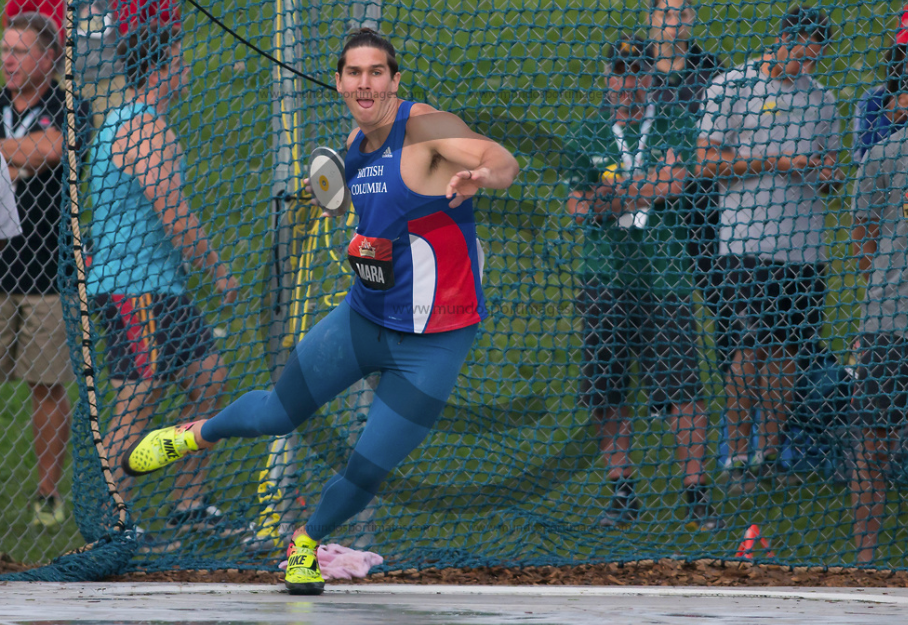 Tyrell Mara - Canadian National Track and Field Championships - Discus Throw